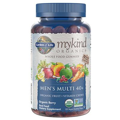 Garden of Life mykind Men's Muti Gummies 40+