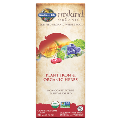 Garden of Life My Kind Plant Iron & Organic Herbs Cranberry
