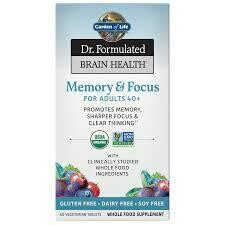 Garden of Life Dr Formulated Memory & Focus 40+