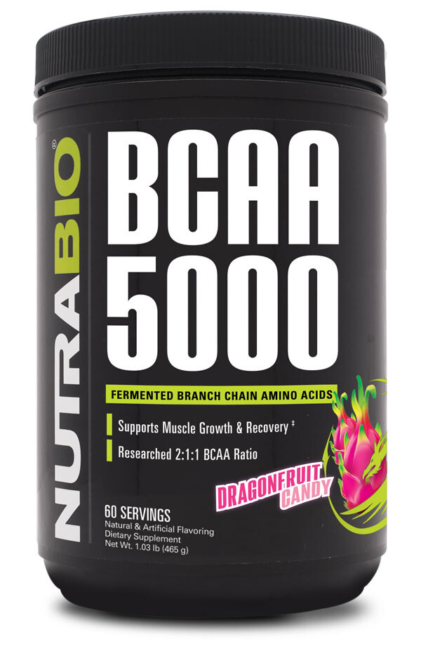 Nutrabio BCAA 5000 Dragonfruit Candy