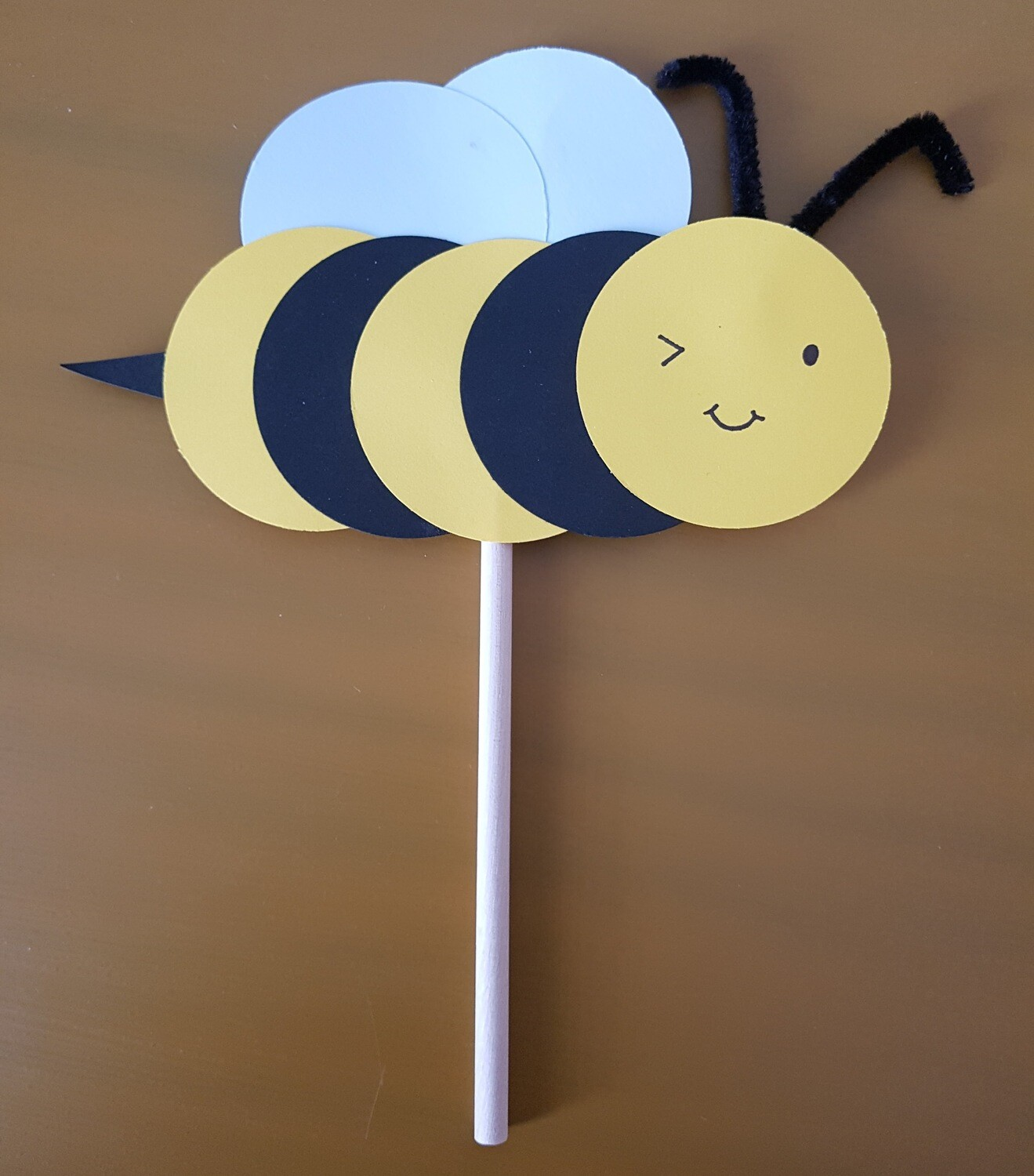 Bee on a stick