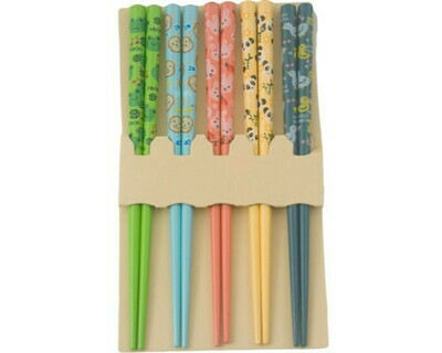 5PR CHOPSTICKS ANIMAL ASSORT - CHSK4