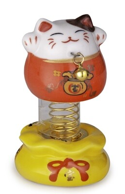 "3""H BOBBLE HEAD LUCKY CAT RD JFB1-R"