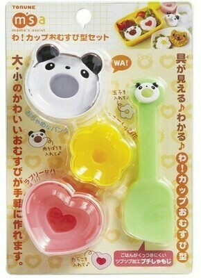 CUP RICE BALL SCOOP SET PANDA