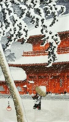 NOREN CURTAIN SNOW SCENE L= 150CM