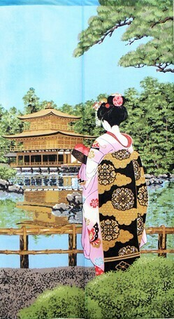 JAPANESE NOREN APPRENTICE GEISHA TEMPLE