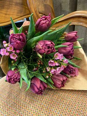 Tulpenstrauss rosa