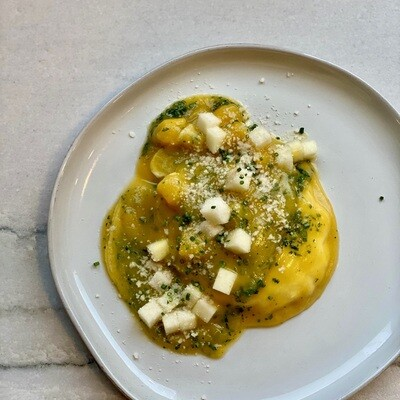Butternut Squash with Raviolo