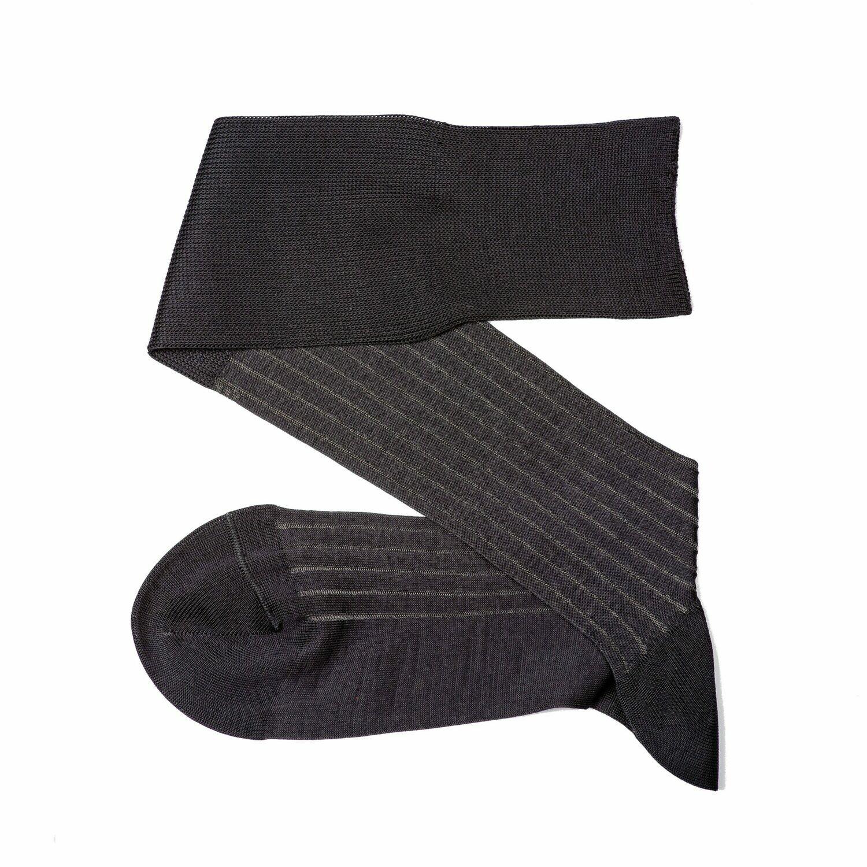 Chaussettes Lignées Gris 2 Tons