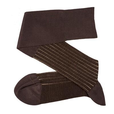 Chaussettes Lignées Brun/Beige