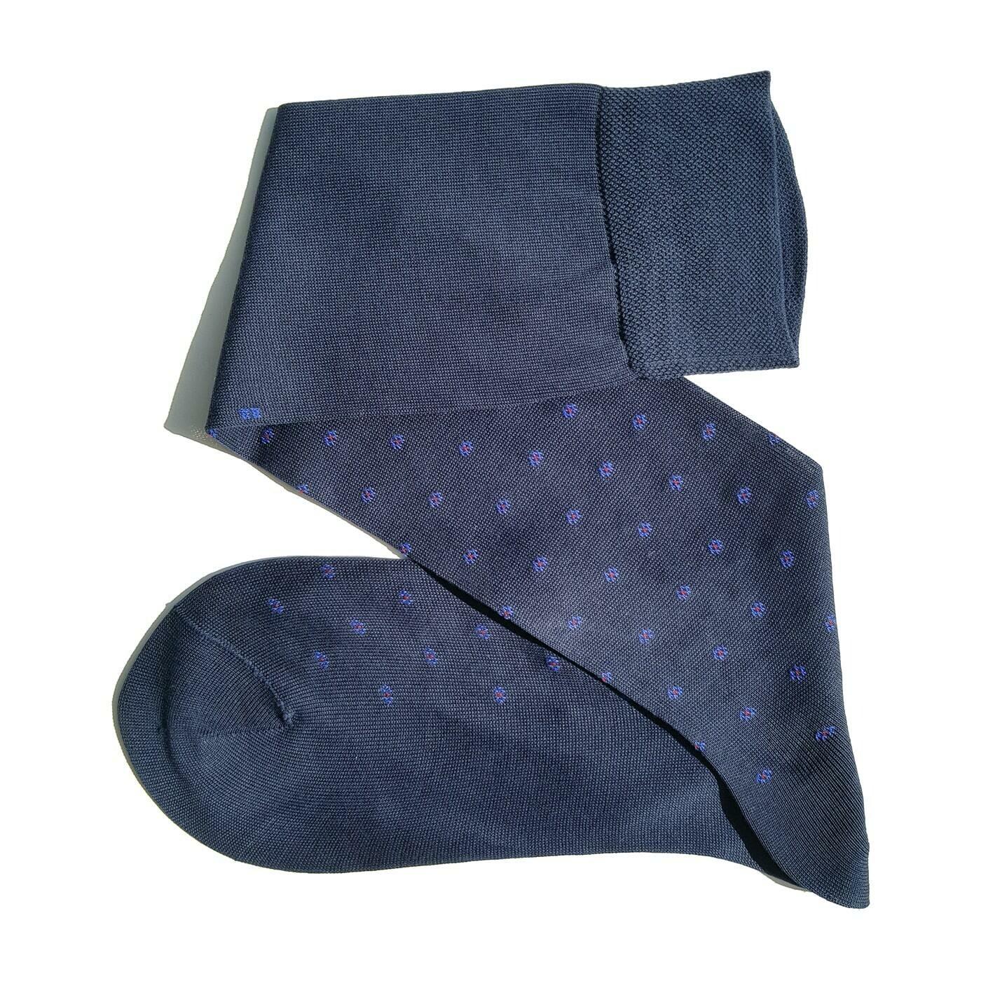 Chaussettes Fleuries Bleu Marin