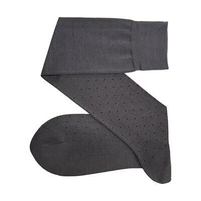 Chaussettes à Pois Gris/Noir