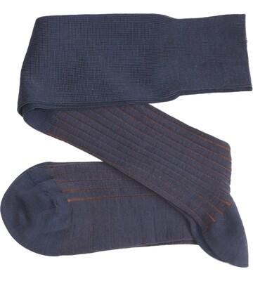 Chaussettes Lignées Bleu Marin/Brun