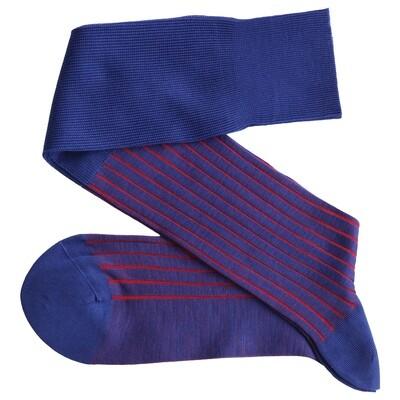 Chaussettes Lignées Bleu/Rouge