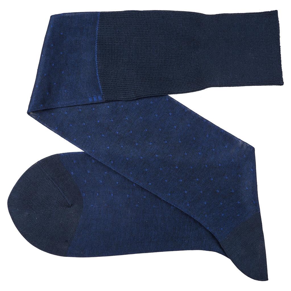 Chaussettes à Pois Bleu Marin/Bleu