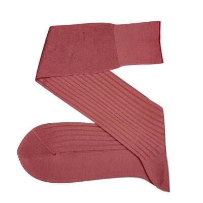 Chaussettes Unies Rose Corail