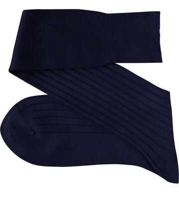 Chaussettes Unies Bleu Marin