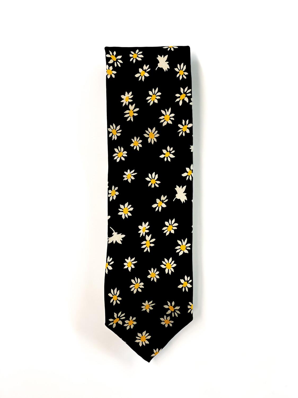 Cravate à motif fleuri