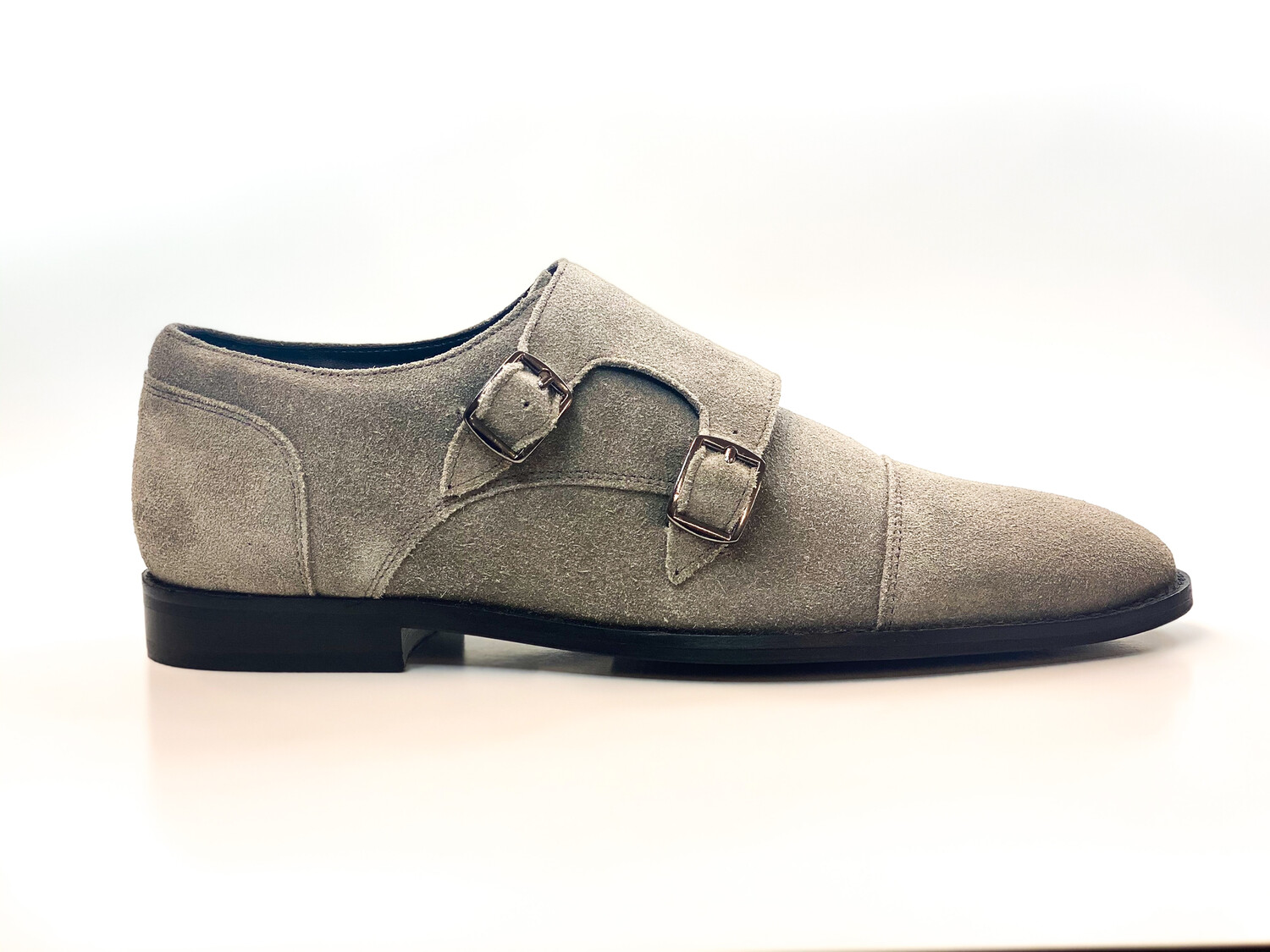 Double Monk Suede Gris