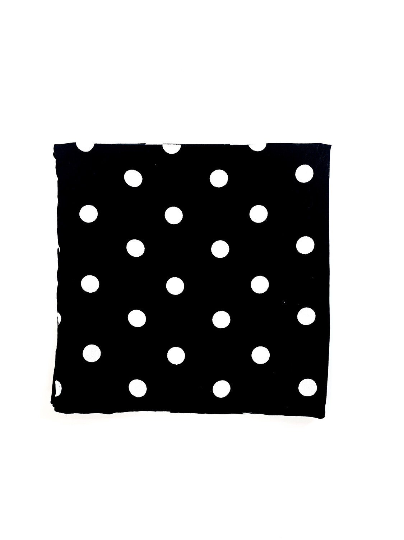 Mouchoir Noir à Pois Blancs