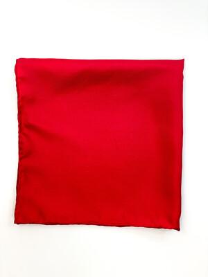 Mouchoir 100% Soie Rouge