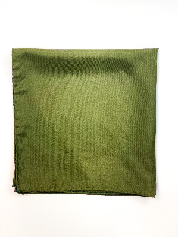 Mouchoir 100% Soie Vert Foncé