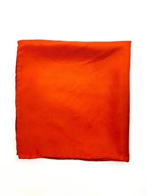 Mouchoir 100% Soie Orange