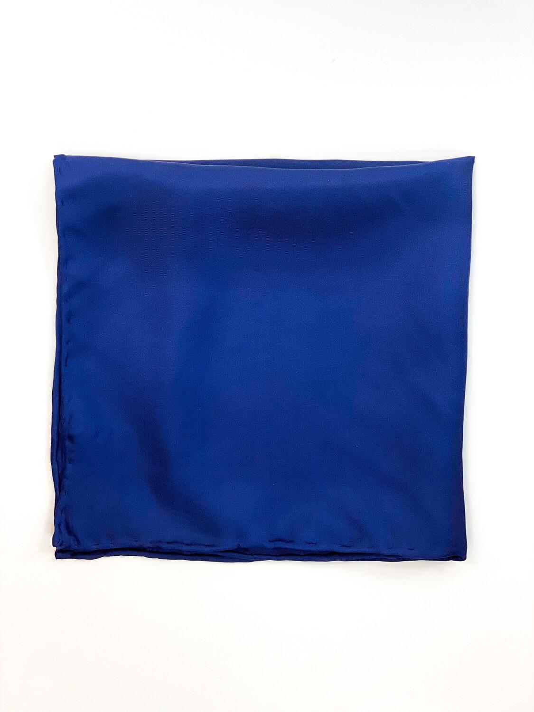 Mouchoir 100% Soie Bleu Marin