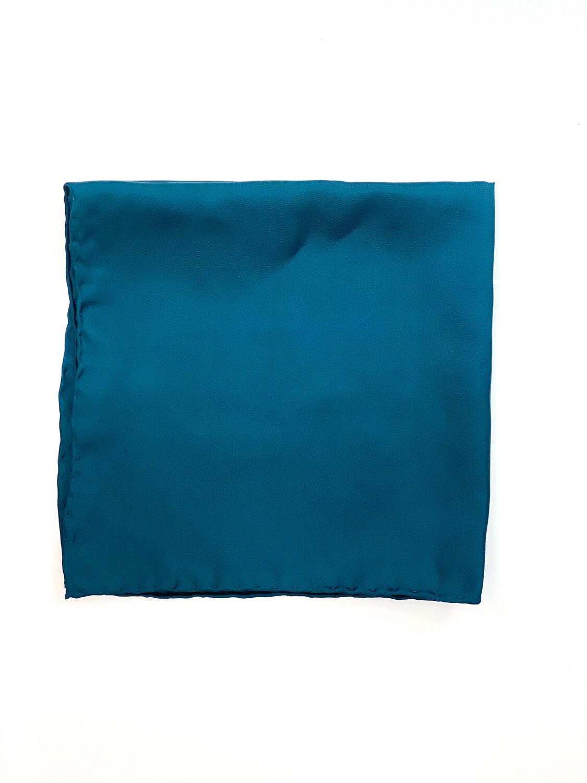 Mouchoir 100% Soie Turquoise Foncé