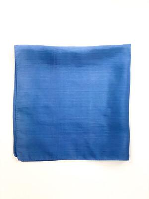 Mouchoir 100% Soie Bleu