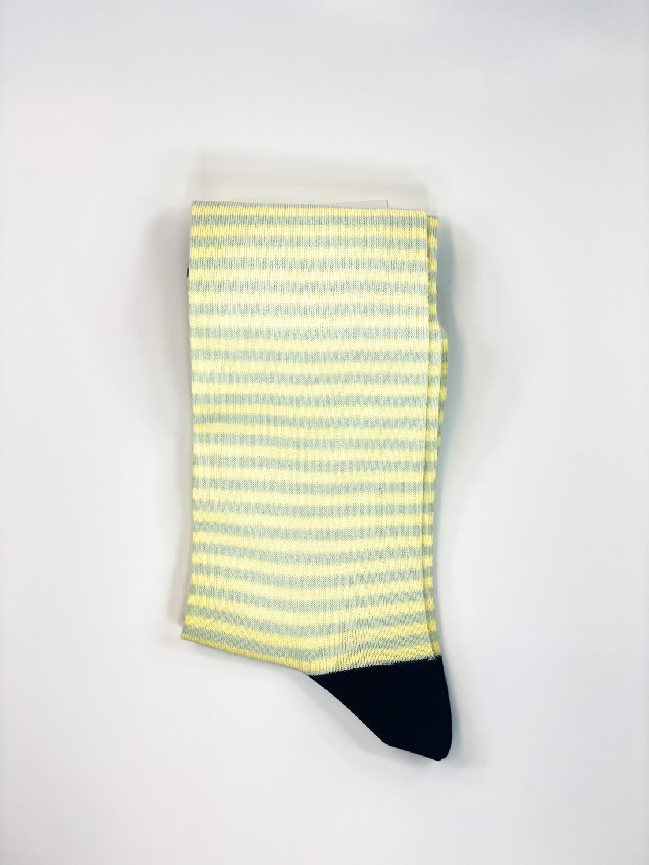 Chaussettes Rayées Jaune/Gris