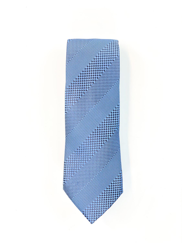 Cravate Bleu à Bandes Diagonales
