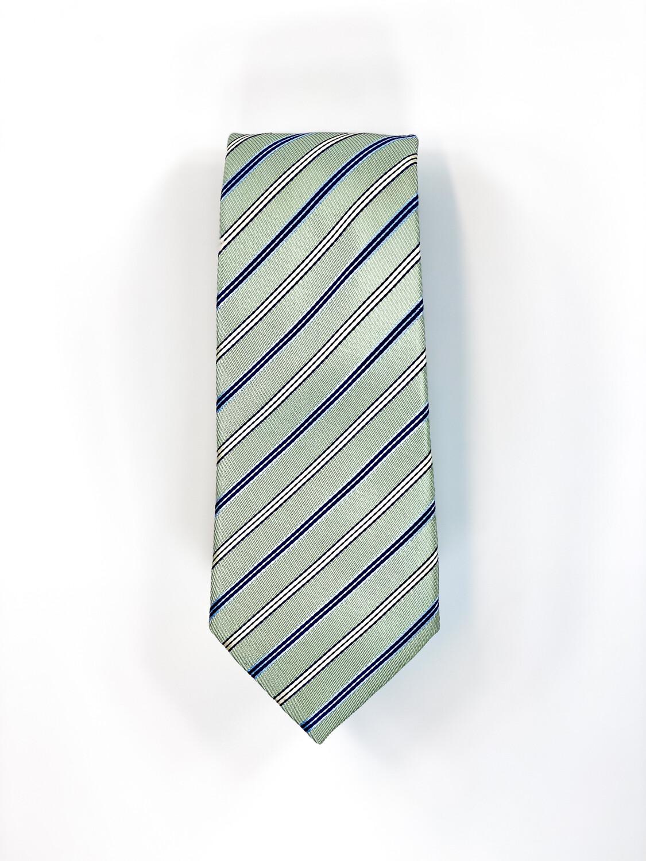 Cravate Menthe à Rayures