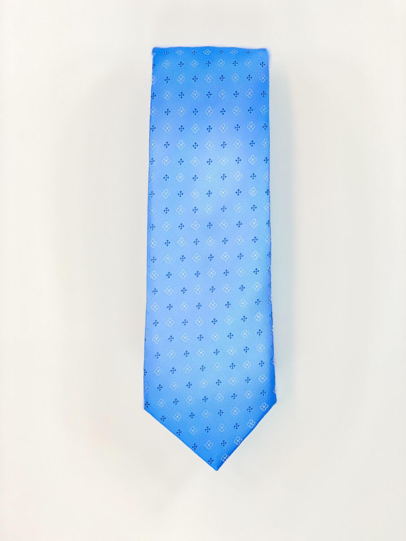 Cravate Bleu Fleurie