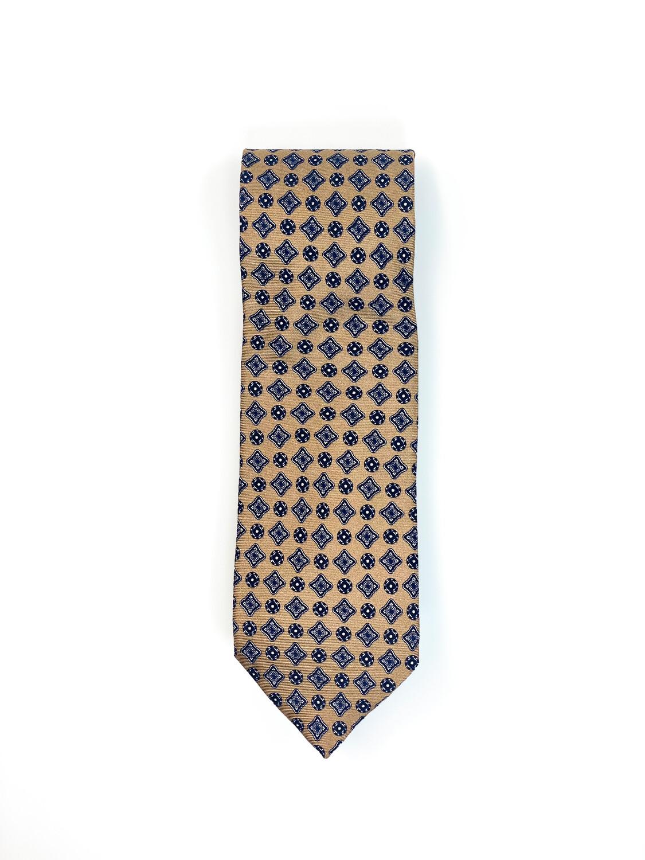 Cravate Imprime Brun/Noir