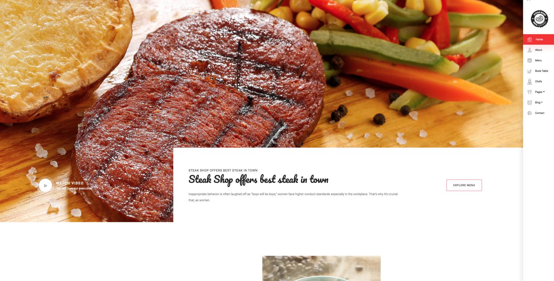 Steak Shop Website Template
