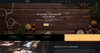 Pizza Shop Website Template
