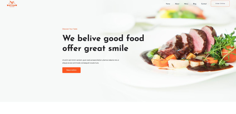 Allfood Restaurant Website Template