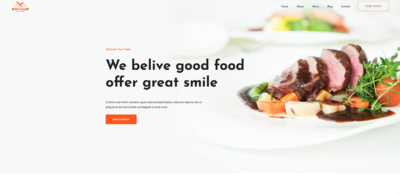 Allfood Restaurant Website Template