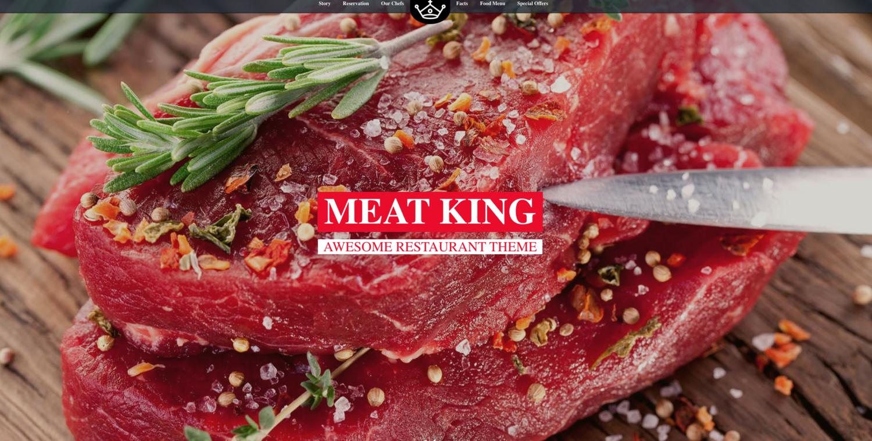 MeatKing Restaurant Website Template