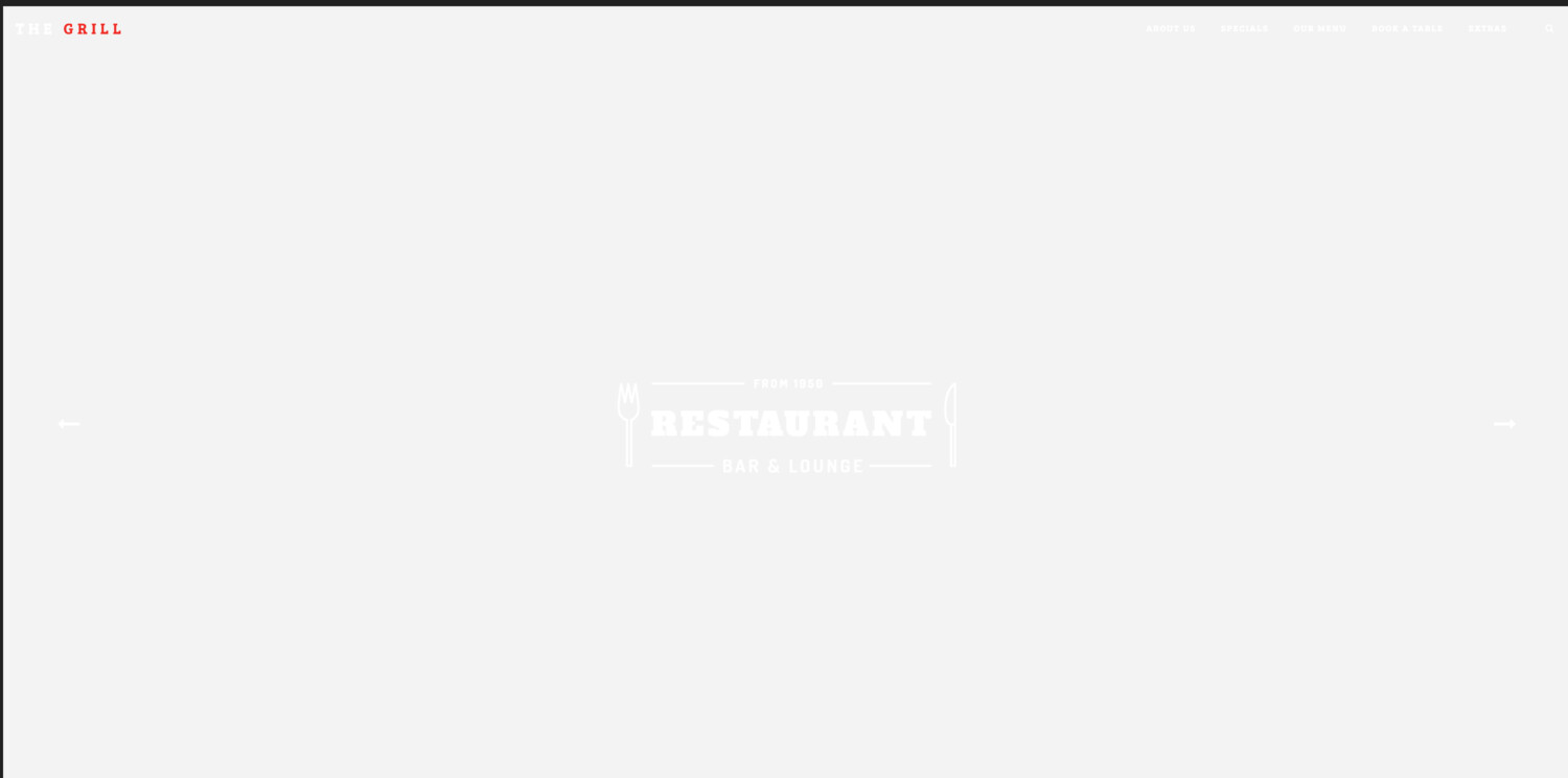 The Grill Restaurant Website Template