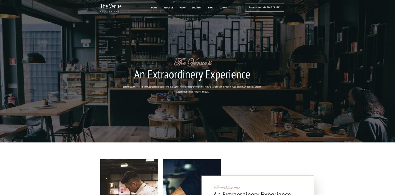 The Venue Restaurant Website Template