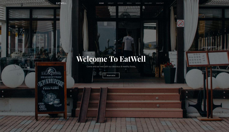 EatWell Restaurant Website Template