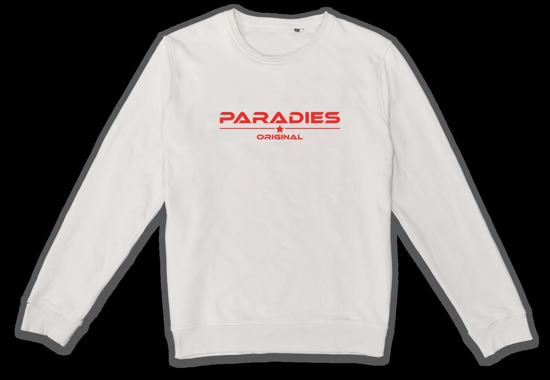 Organic Sweatshirt in off white/rot