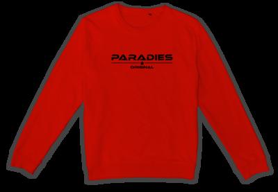 Organic Sweatshirt in rot/schwarz