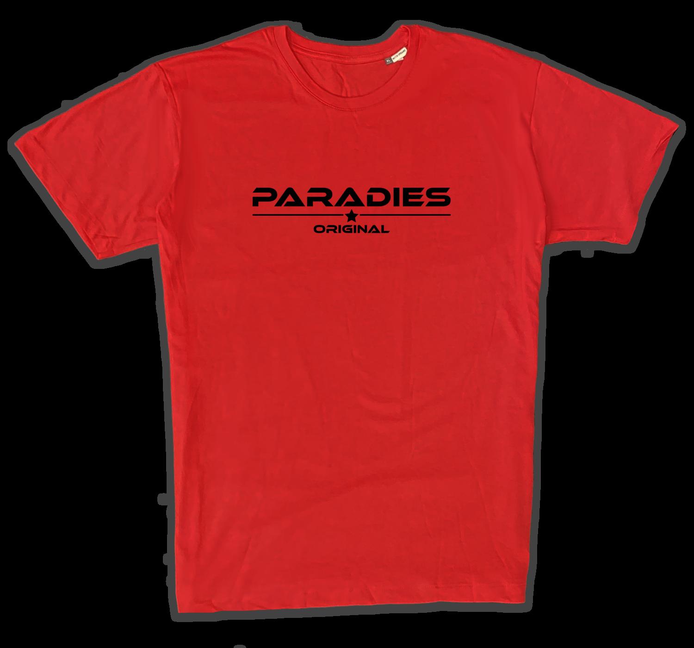 Organic T-Shirt in rot/schwarz