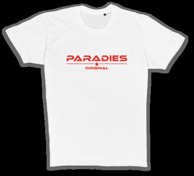 Organic T-Shirt in weiß/rot