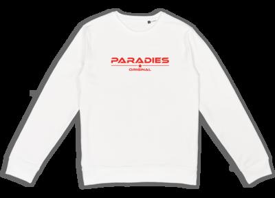 Organic Sweatshirt in weiß/rot