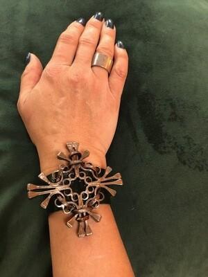 Large iron cross bracelet