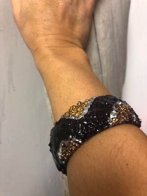 Purple and metallic bracelet